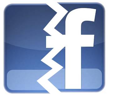 Broken Facebook icon
