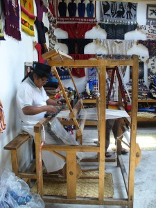 José at his loom in Peguche