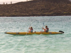 Celeste and Jim on Kayak