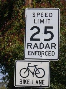 Speed Limit 25 Radar Enforced
