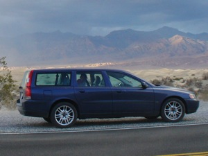 Volvo in Death Valley
