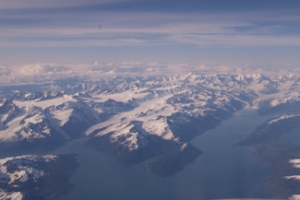 View from plane enroute to Anchorage