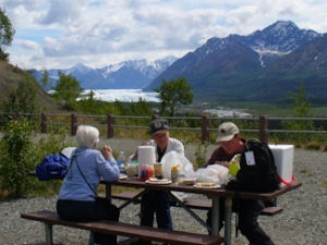 Picnic by the Matanuska Glacier
