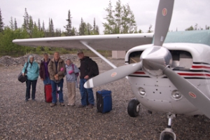 Our group with plane in McCarthy