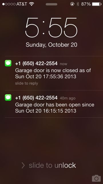 Iu0027m Glad We Live In A Low Crime Area: I Have A Tendency To Leave Our Garage  Door Open, Sometimes All Night. I Have Even Considered Installing A Warning  ...