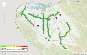 Expressways congestion map (from http://congestion.countyroads.org)