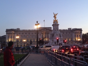 Buckingham Palace at twilight