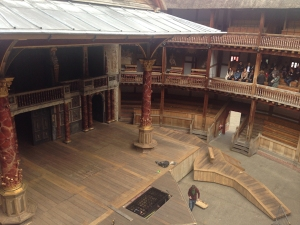 Globe Theatre stage and seating