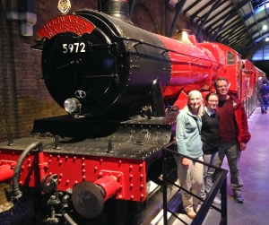The Hogwarts Express locomotive