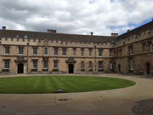 One of the many courtyards at Oxford