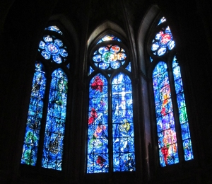 Marc Chagall windows in Reims Cathedral