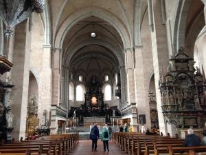 Interior of the cathedral at Trier