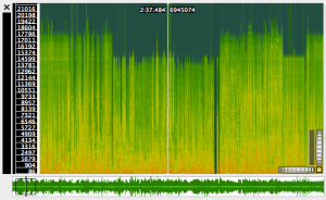 Spectrogram during series of ads