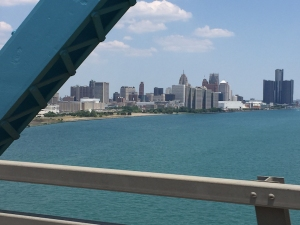 Detroit as seen from the Ambassador Bridge