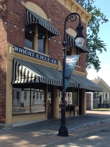 The Wright Brothers' bicycle shop