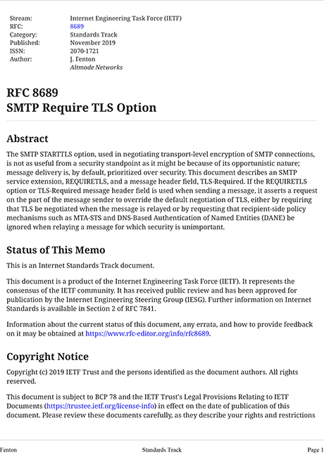 RFC 8689 cover page image